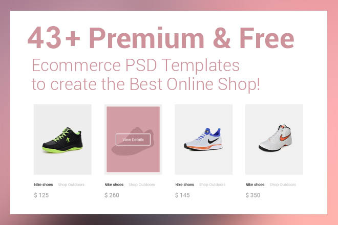 5a4a66ad4 43+Premium & Free Ecommerce PSD Templates to create the Best Online Shop! | Free  PSD Templates