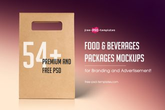 54+Premium and Free PSD Food & Beverages Packages Mockups for Branding and Advertisement!