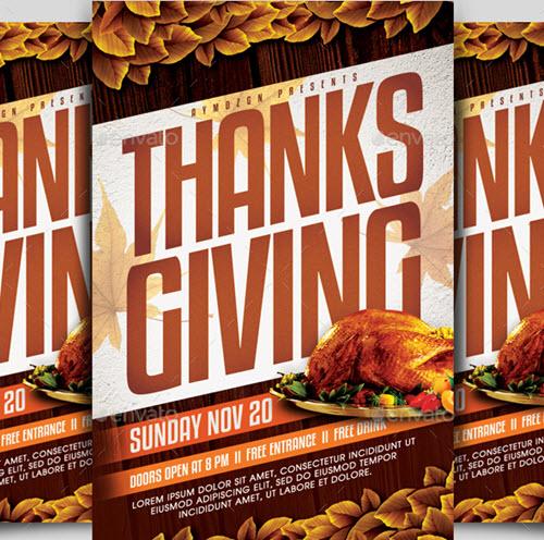 40 Premium Free Thanksgiving Flyer Psd Templates For Thanksgiving 2018 Free Psd Templates