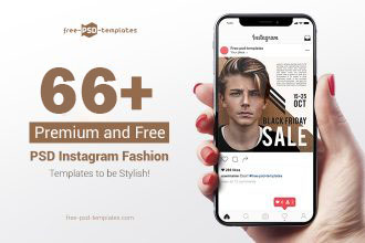 66+PREMIUM & FREE PSD INSTAGRAM FASHION TEMPLATES TO BE STYLISH!