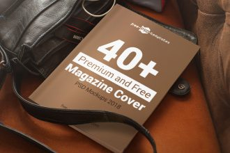 40+ Premium and Free Magazine Cover PSD Mockups 2018