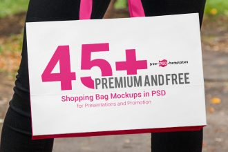 45+ Premium and Free Shopping Bag Mockups in PSD for Presentations and Promotion
