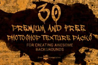 30 Premium and Free Photoshop Texture Packs for Creating Awesome Backgrounds