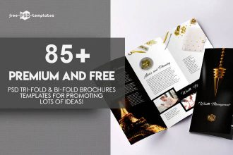 85+ Premium and Free PSD Tri-Fold & Bi-Fold Brochures Templates for promoting lots of ideas!