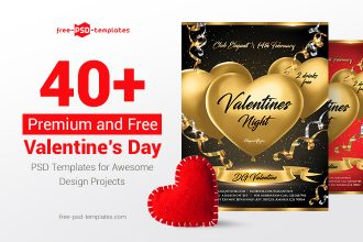 40+ Premium & Free Valentine's Day PSD Templates for Awesome Design Projects