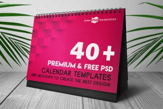 40+Premium and Free PSD Calendar Templates & Mockups to create the best design!