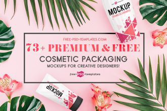 73+Premium & Free PSD Cosmetic Packaging Mockups for creative designers!