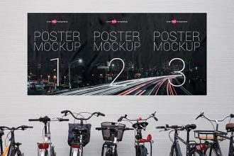 2 Free Street Poster Mock-ups in PSD