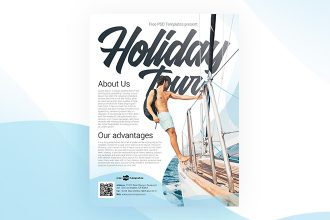 Free Holiday Tour Flyer in PSD