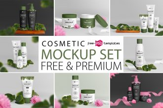 Free Cosmetic Mockup Set + Premium Version
