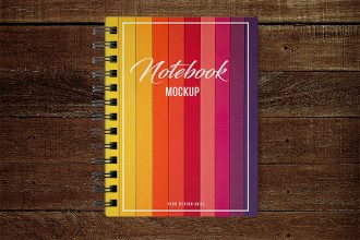 Free PSD Notebook Mockup