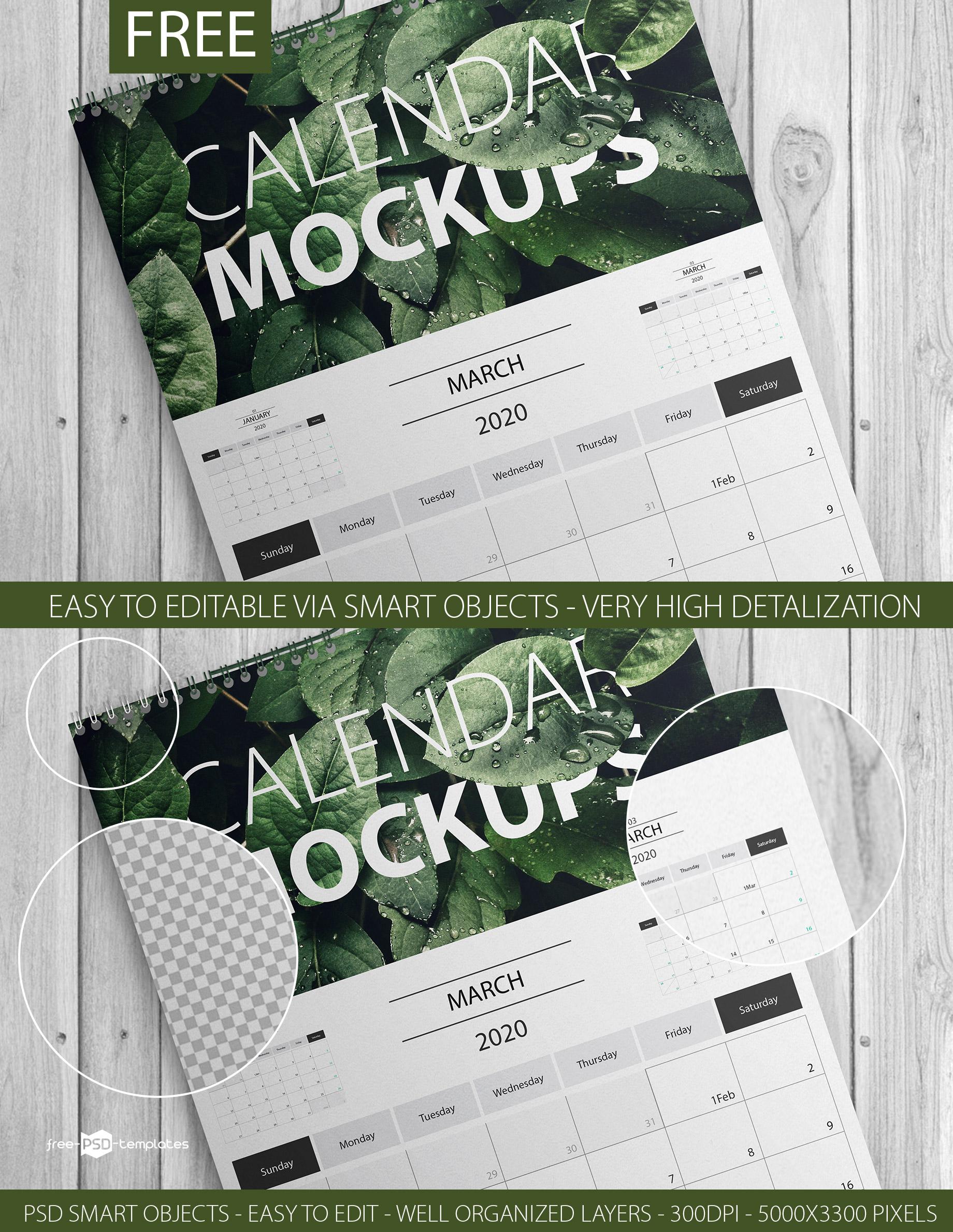 Download Template Kalender 2020 PSD, EPS, dan CDR 1