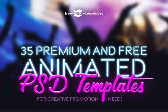 35+ Premium and Free Animated PSD Templates for Creative Promotion Needs