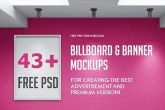 43+ Free PSD Billboard & Banner Mockups for creating the best advertisement and Premium Version!