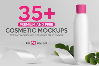 35+ Premium and Free Cosmetic Mockups for Packaging and Branding Presentation