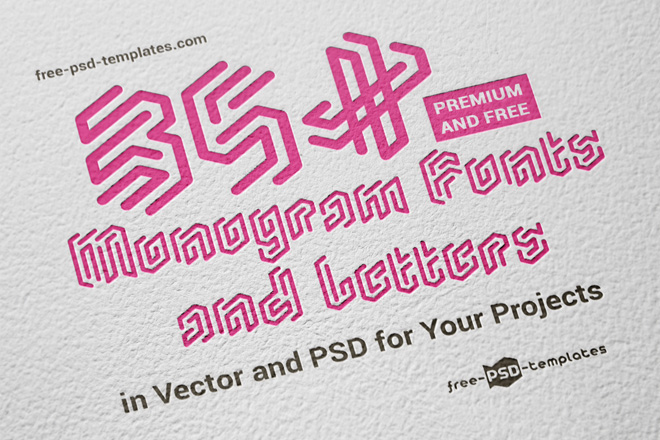 35+ Premium and Free Monogram Fonts and Letters in Vector and PSD ...
