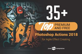 35+ Top Premium and Free Photoshop Actions 2018 for Agile Effect Creating