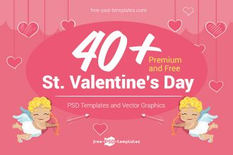 40+ Premium and Free St. Valentine's Day PSD Templates and Vector Graphics