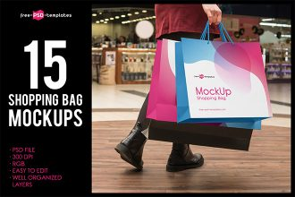 Free Shopping Bag MockUps + Premium Version