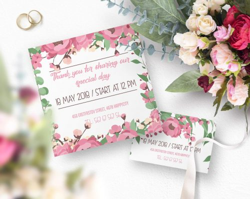 Free Customizable Wedding Invitation PSD Templates and Mock-ups+ ...