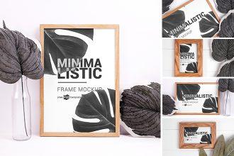 Free Minimalistic Frames Mockup Set
