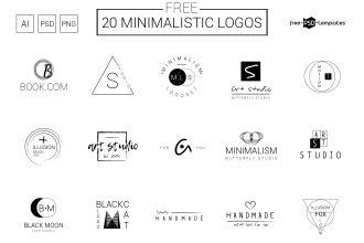 20 Free Minimalistic Vector Logos