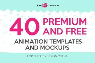 40 Premium and Free Animation Templates for Social Media and Web Promotion