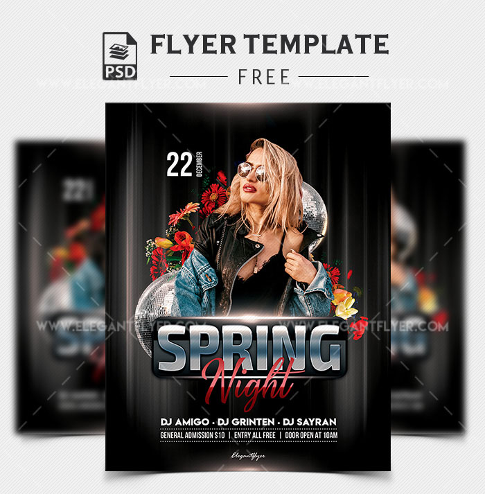 63 PREMIUM FREE PSD PARTY NIGHT CLUB FLYER TEMPLATES FOR