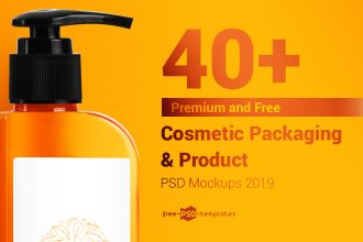 40+ Premium and Free Cosmetic Packaging & Product PSD Mockups 2019