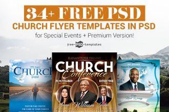 34+ Free PSD Church Flyer Templates in PSD for Special Events & Premium Version!