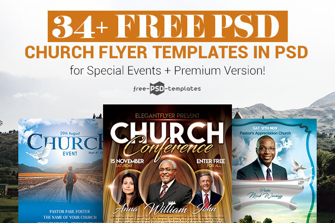34 Free Psd Church Flyer Templates In For Special Events Premium Version