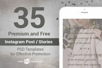 35 Premium and Free Instagram Post / Stories PSD Templates for Effective Promotion