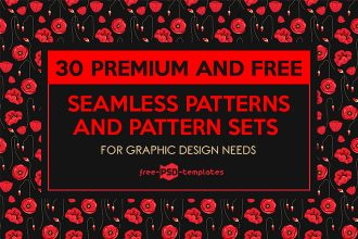 30 Premium and Free Seamless Patterns and Pattern Sets for Graphic Design Needs