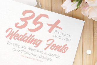 35+ Premium and Free Wedding Fonts for Elegant Wedding Invitation and Stationery Designs