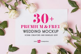 30+ Premium and Free Wedding Mockup Sets & Scene Creators 2019