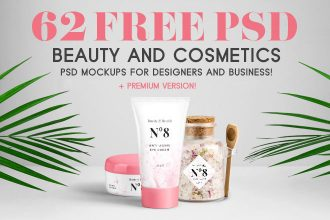 62 Free PSD Beauty & Cosmetics PSD Mockups for designers and business + Premium version!