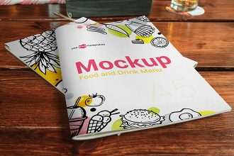 2 Free Food and Drink Menu Mock-ups in PSD