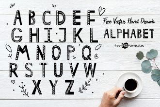 Free Vector Hand Drawn Alphabet
