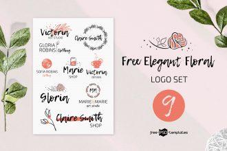 Free Elegant Floral Logo Set