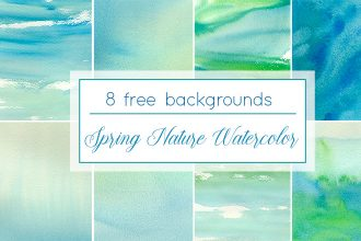 Free Watercolor Spring Nature Background
