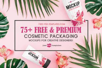 75+ Free PSD Cosmetic Packaging Mockups for creative designers & Premium Version!