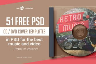 51 FREE PSD CD/ DVD Cover Templates in PSD for the best music and video + Premium Version!