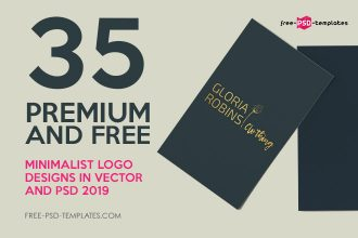 35 Premium and Free Minimalist Logo Designs in Vector and PSD 2019