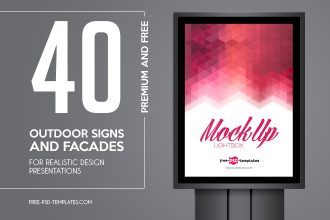 40+ Free and Premum Outdoor Signs and Facades for Realistic Design Presentations