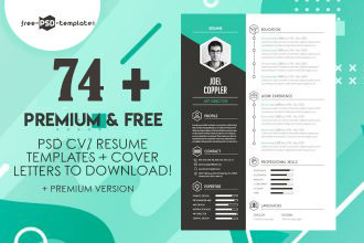 74 Free Psd Cv Resume Templates Cover Letters To Download And Premium Version Free Psd Templates