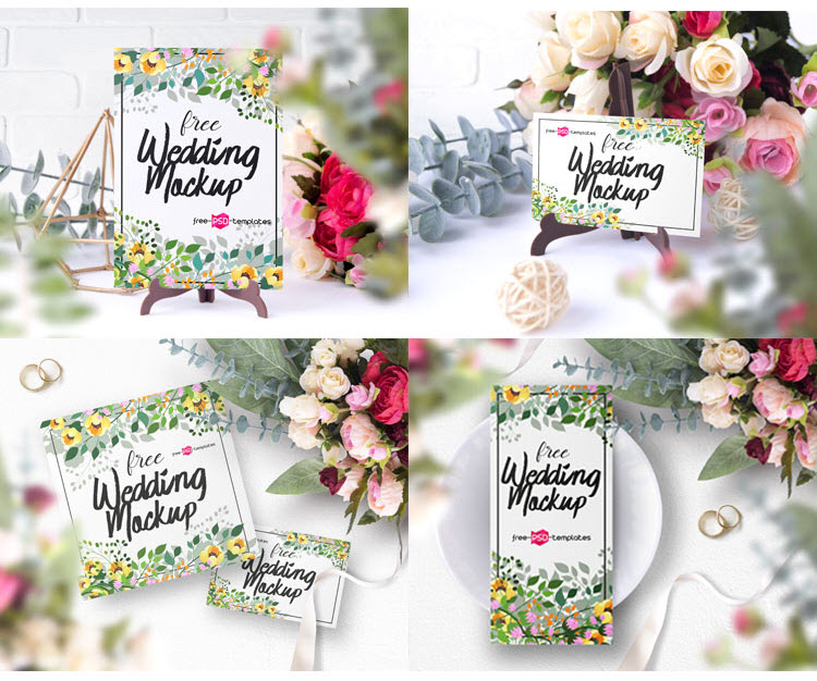 6 Free Wedding Mockup Set