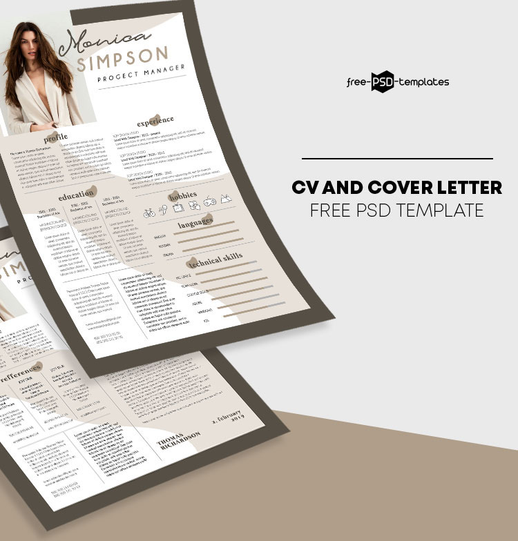74 Free Psd Cv Resume Templates Cover Letters To Download And