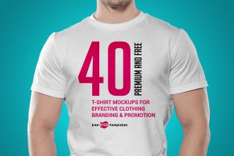 40+ Free and Premium T-Shirt Mockups for Effective Clothing Branding & Promotion