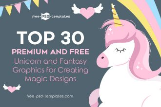 Top 30 Premium and Free Unicorn and Fantasy Graphics for Creating Magic Designs