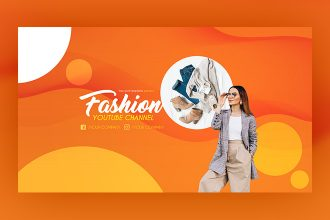 Free Fashion YouTube Channel Banner